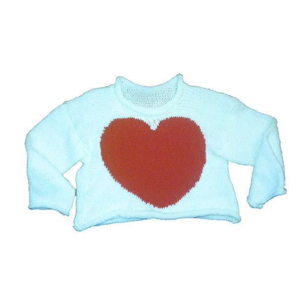 Hand-Knitted Baby Heart Jumper