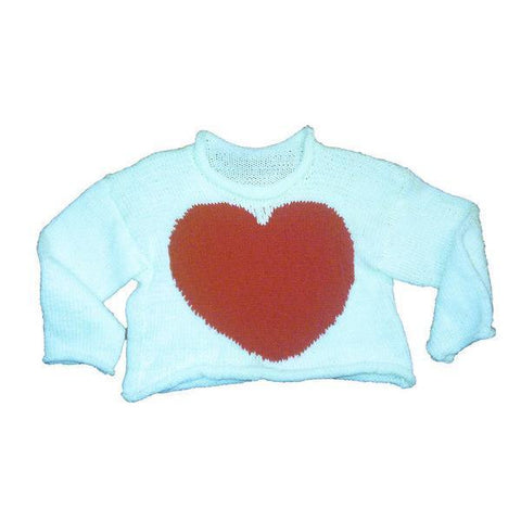 Hand-Knitted Children's Heart Jumper