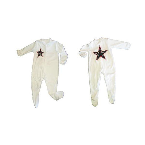 Hand-Crafted Star Baby Sleepsuit 'Pirate'