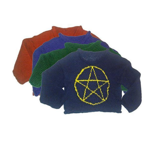 Hand-Knitted Baby Pentacle Jumper