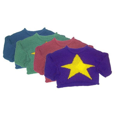 Hand-Knitted Baby Star Jumper