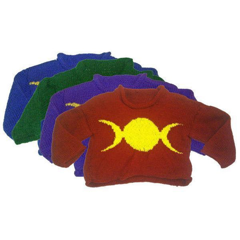 Hand-Knitted Children's Triple Moon Goddess Jumper