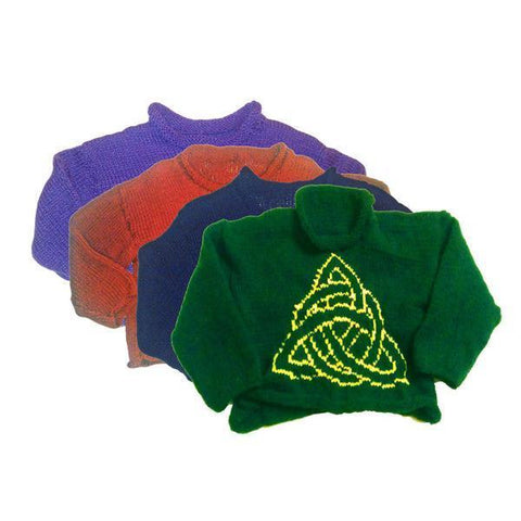 Hand-Knitted Children's Triquetra Jumper
