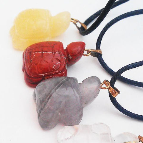 Crystal Turtle Necklaces