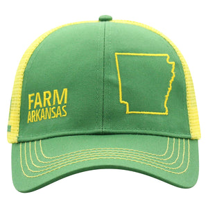 John Deere Farm State Pride Cap-Green and Yellow-Arkansas - Candy-Rain-Drop-Shop