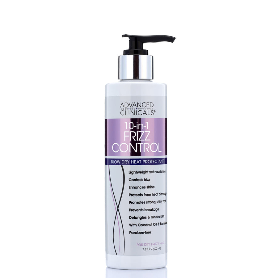 10-in-1 frizz control cream with coconut oil and bamboo, paraben free,enhances shine, and controls frizz