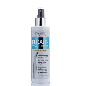 keratin sooth and shine, leave in treatment detangling formula, cobats dryness, restores shine