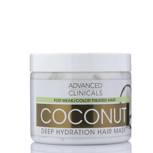 12oz coconut deep hydration hair mask, for color treated hair