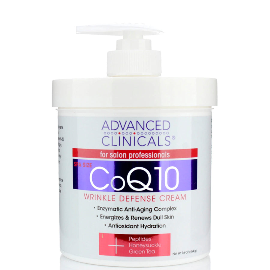 16oz wrinkle defense cream, antioxidant hydration, peptides, green tea, , $15