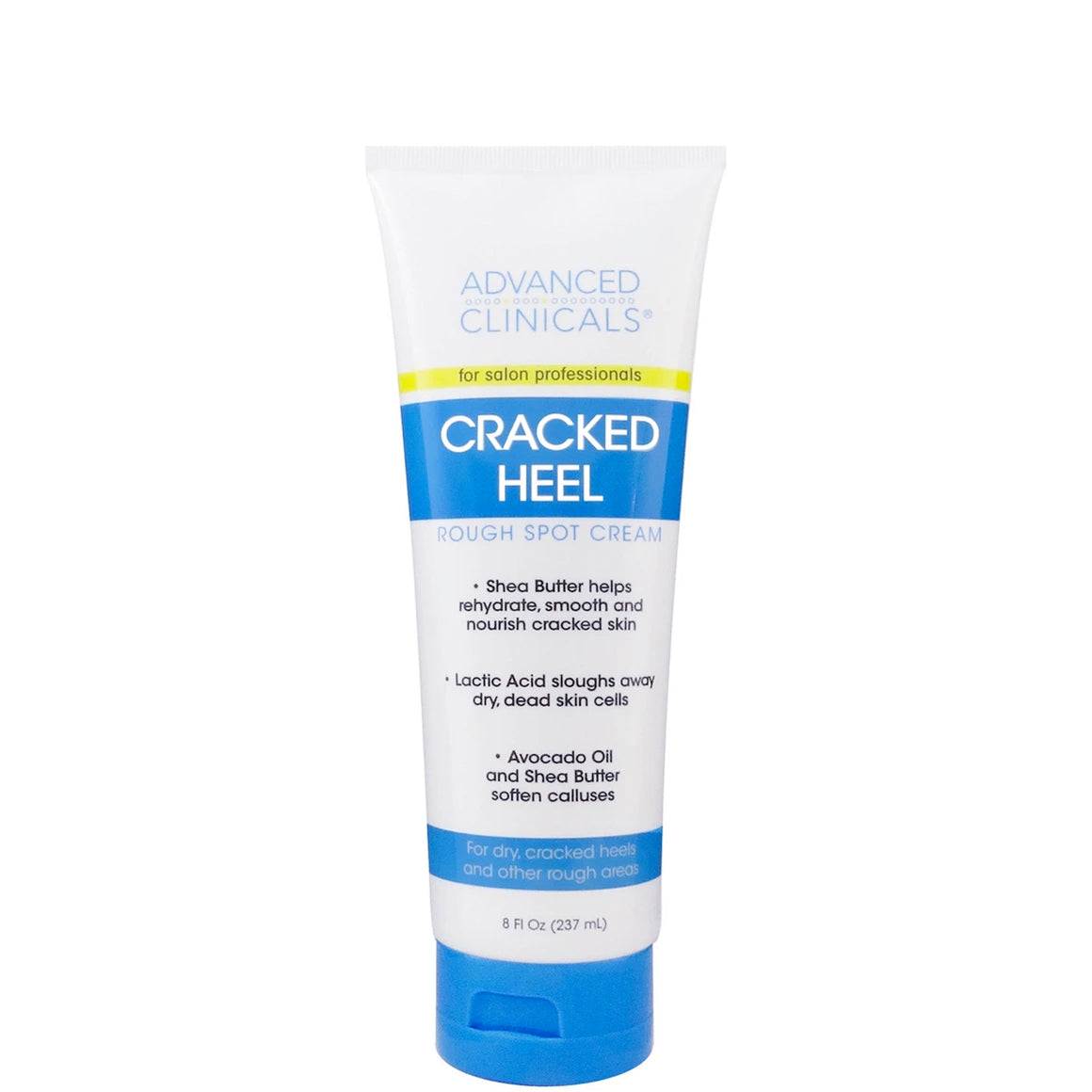 8oz cracked heel, rough spot cream with avocado oil, shea butter and lactic acid