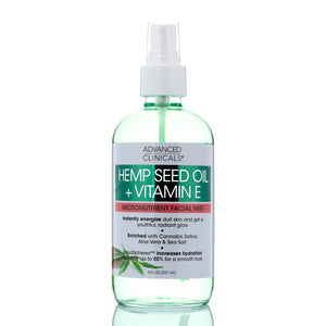 Hemp Seed Oil + Vitamin E Micronutrient Facial Mist 8oz