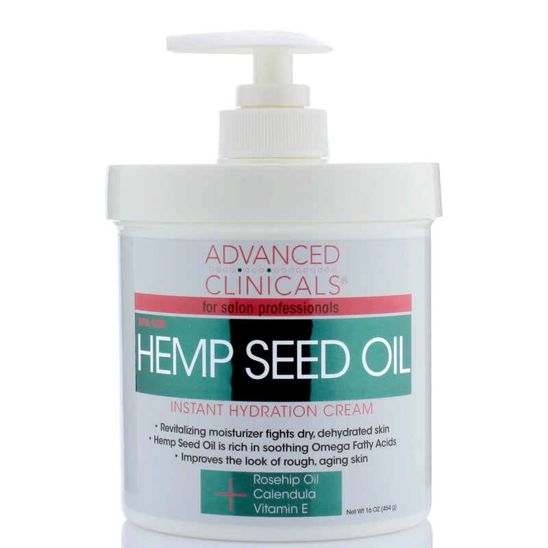 Hemp Seed Oil Instant Hydration Cream 16oz