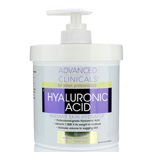 16oz , spa size, hyaluronic acid, instant skin hydrator, restores sagging skin, squalane, vitamin E