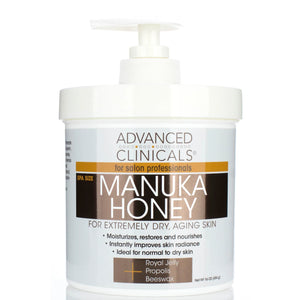 manuka honey for extremely dry aging skin, restores and nourishes skin