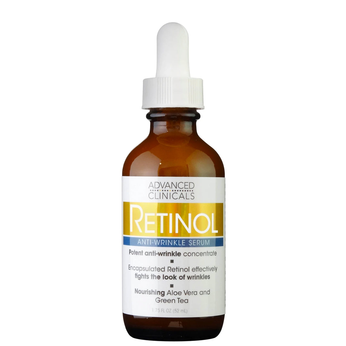 1.75oz retinol serum is an encapsulated retiol with nourishing aloe vera and green tea.