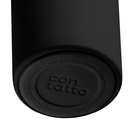 Stainless Steel Reusable Bottle Black - Garage Italia Shop - bottiglia in metallo - borraccia - metal flask