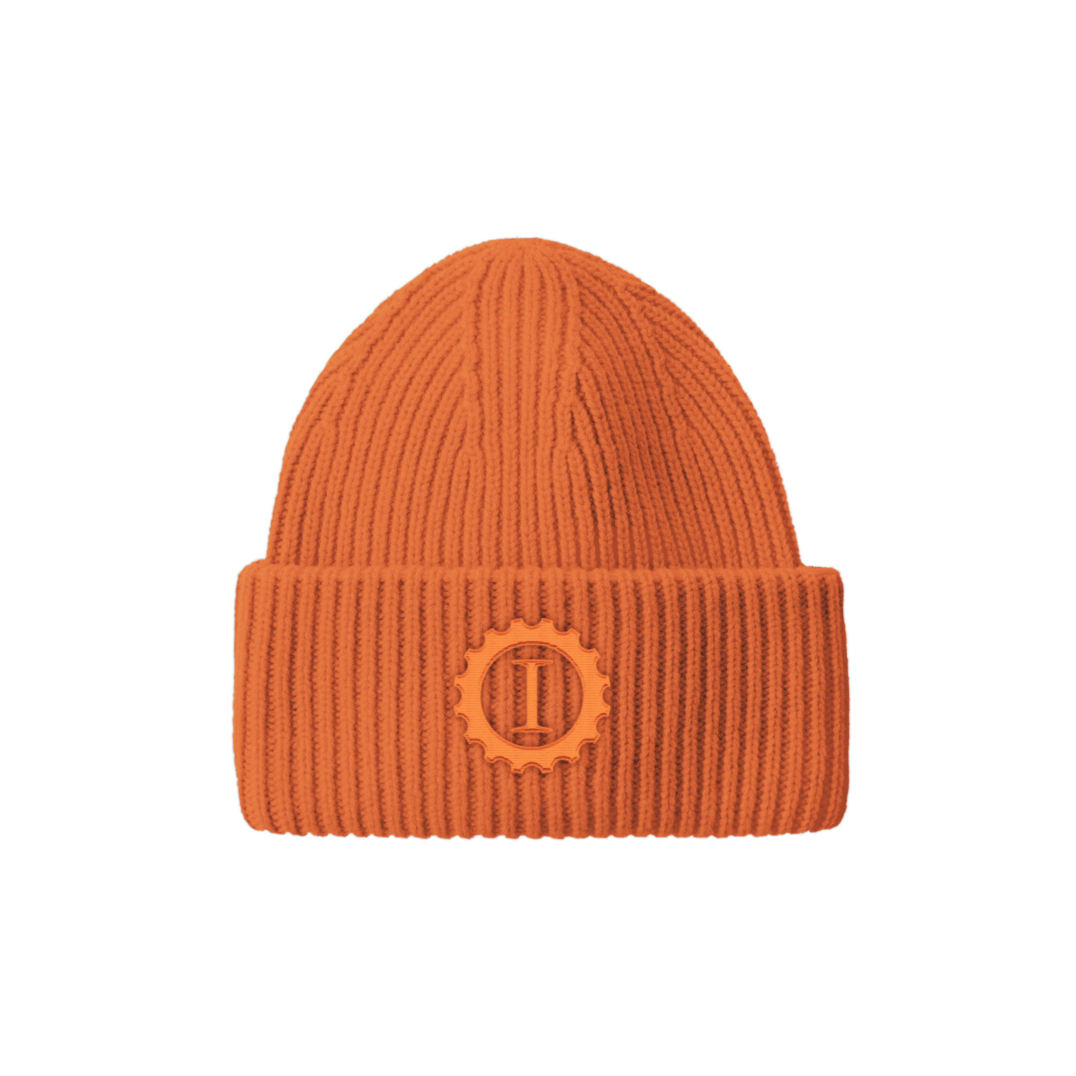 Oversized Beanie Orange - Garage Italia Shop - cuffia - berretto - ricamo - embroidery - oversize