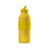 Stainless Steel Reusable Bottle Yellow - Garage Italia Shop - bottiglia in metallo - borraccia - metal flask