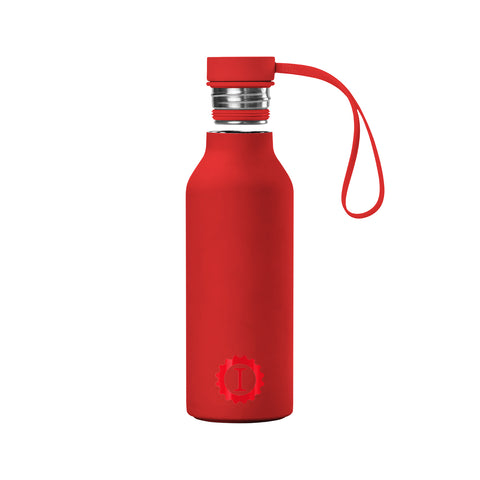 Stainless Steel Reusable Bottle Red - Garage Italia Shop - Garage Italia Shop - bottiglia in metallo - borraccia - metal flask