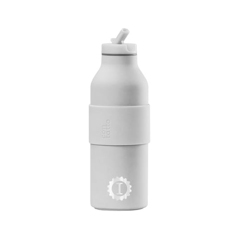 Stainless Steel Reusable Bottle White - Garage Italia Shop - bottiglia in metallo - borraccia - metal flask