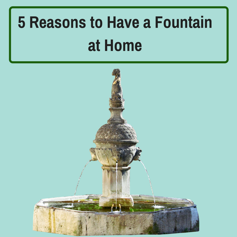 5 Reasons why you should consider having a fountain at home