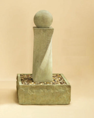 Giannini Garden Rustic Mod Twist Fountain With Ball