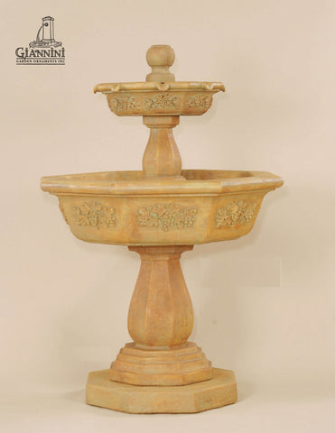 Giannini Garden Uva Two Tier Fountain