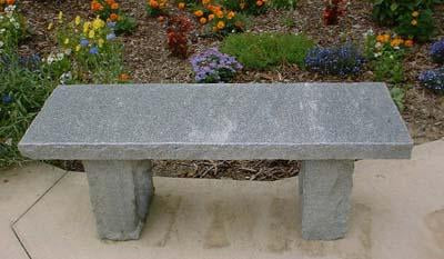 Blue-Gray Granite Bench