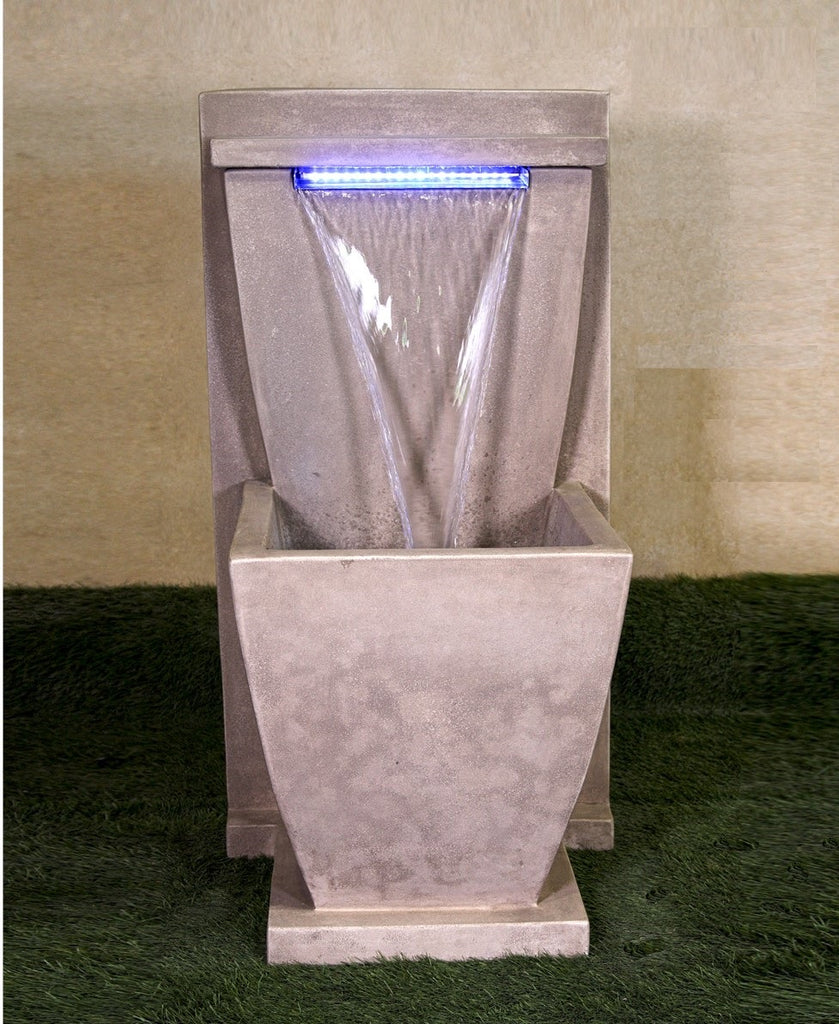 Giannini Garden Corina Aqua Glow Wall Fountain