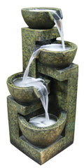 Alpine Corporation Three Tier Stone Bowl Fountain
