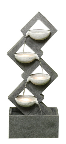 Calming Four Tiered Cascading Fountain