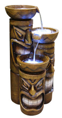 Triple Tiki Cascading Fountain