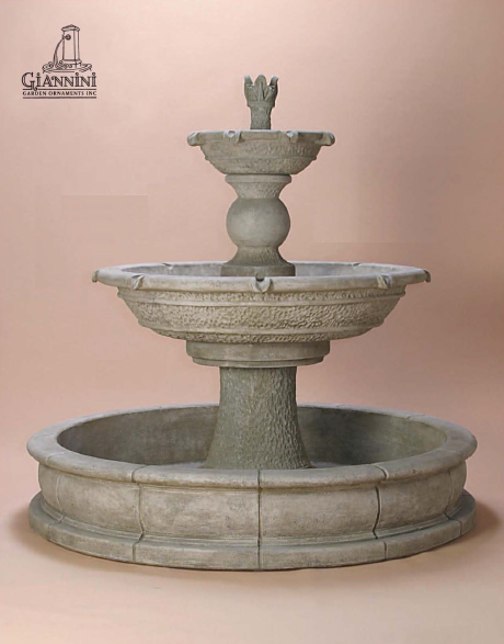 Giannini Garden Antiquarium Two Tier Pond Fountain