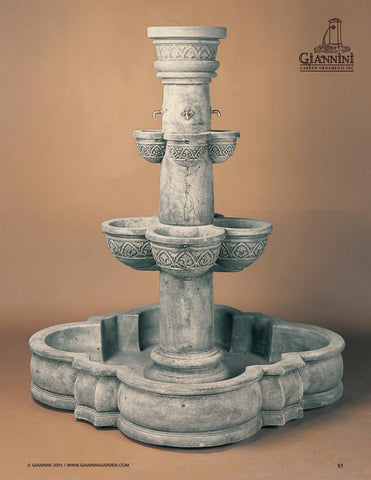 Giannini Garden Plaza Minerva Outdoor Fountain