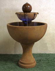 Giannini Garden Orbis Two Tier Fountain
