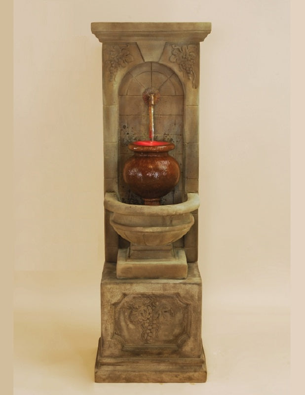 Giannini Garden St. Helena Urn Fountain For Rustic Iron Spout