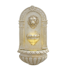 Alpine Corporation Lion Head Wall Fountain