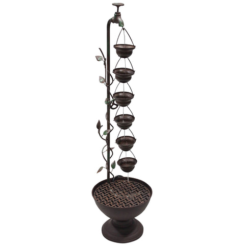 Alpine Corporation Hanging 6-Cup Tiered Floor Fountain