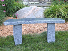 Curved Charcoal Granite Bench