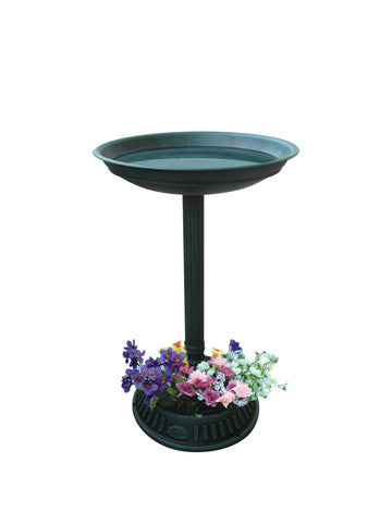 Alpine Corporation Birdbath with Planter Pedestal