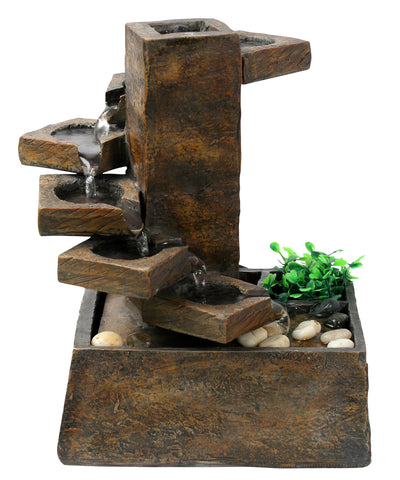 Alpine Corporation Eternity Tabletop Fountain: Tiered Stone