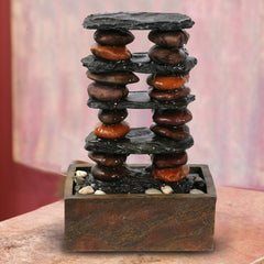Alpine Corporation Eternity Tabletop Fountain: Stacked Rocks