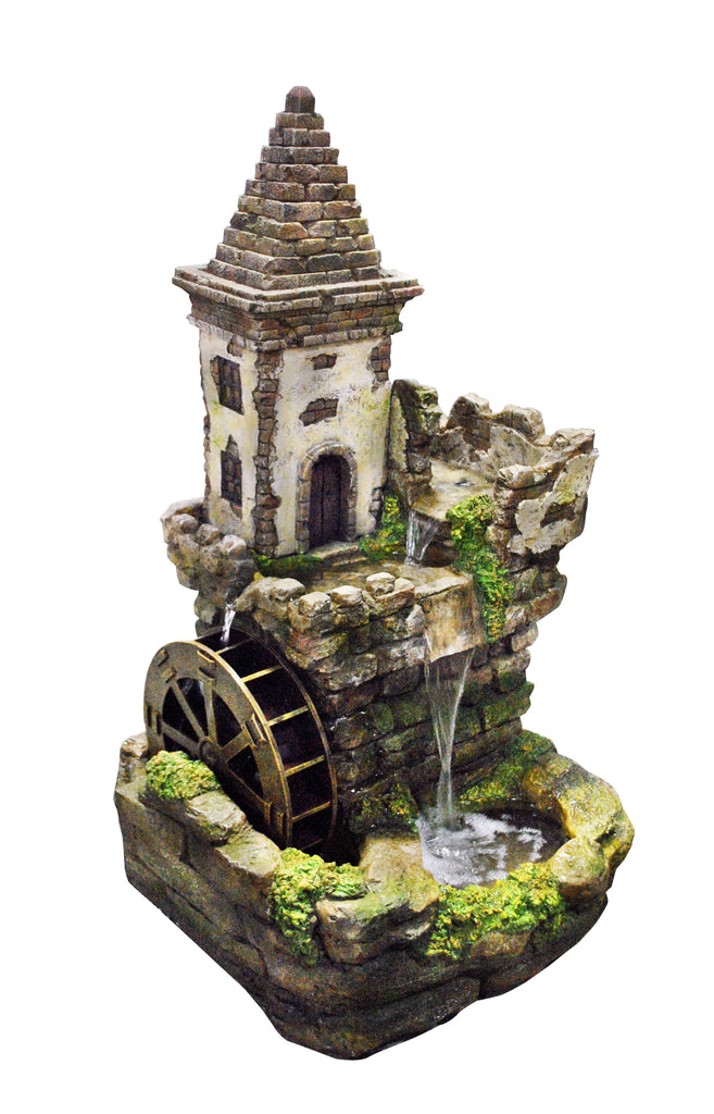 Alpine Castle Fairy Garden Fountain