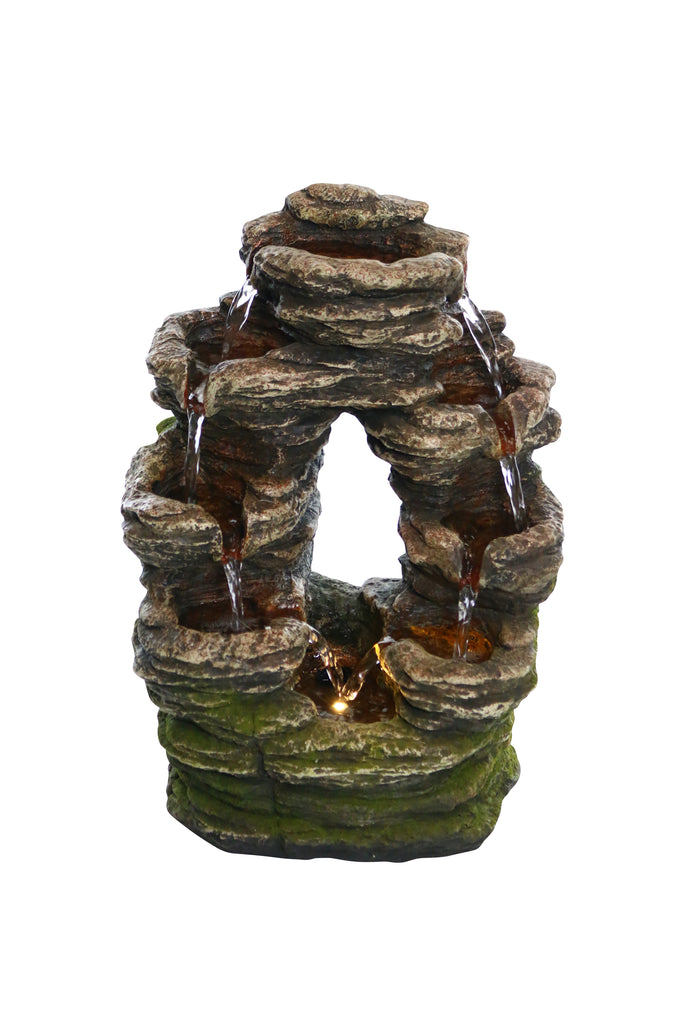 Oval Shaped Rock Tabletop Fountain