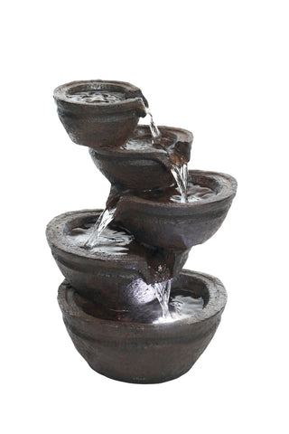 Alpine Corporation Tiering Bowls Tabletop Fountain