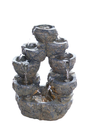 5-Tiered Cascading Tabletop Fountain