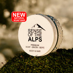 Natural soap with 7 Alpine plants