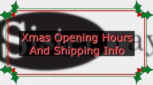Online store Xmas shipping and opening info