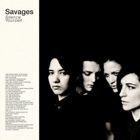 Savages Silence Yourself LP 0744861103615 Worldwide Shipping