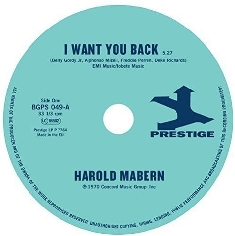 Harold Mabern I Want You Back / Sister Janie [7 VINYL] LP